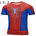 Q.E.J 2016 Top Sales Superhero T shirt Tee Superman Spiderman Batman Avengers Captain America Ironman Style Clothing S-6XL