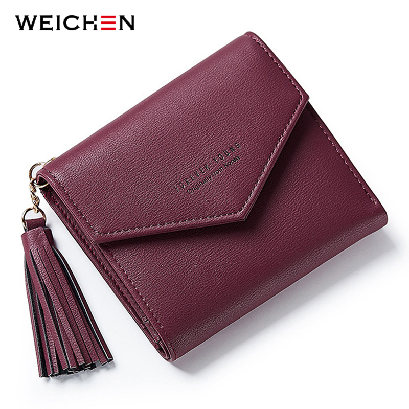 2018 New Tassel Pendant Day Clutch Wallet For Women Coin Bag Card Holder Short Small Woman's Wallets and Purses Female Lady Girl wallet women small cow leather mini short wallets id card holder wallet coin purses real leather wallets for lady clutch female
