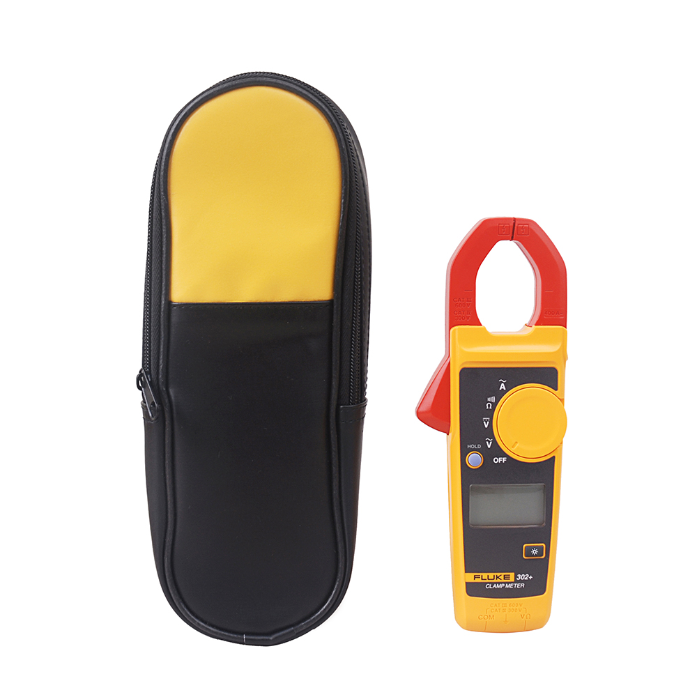 Fluke 302 Digital Clamp Meter AC DC Tester With Ohm Continuity Measurement soft Carry Case