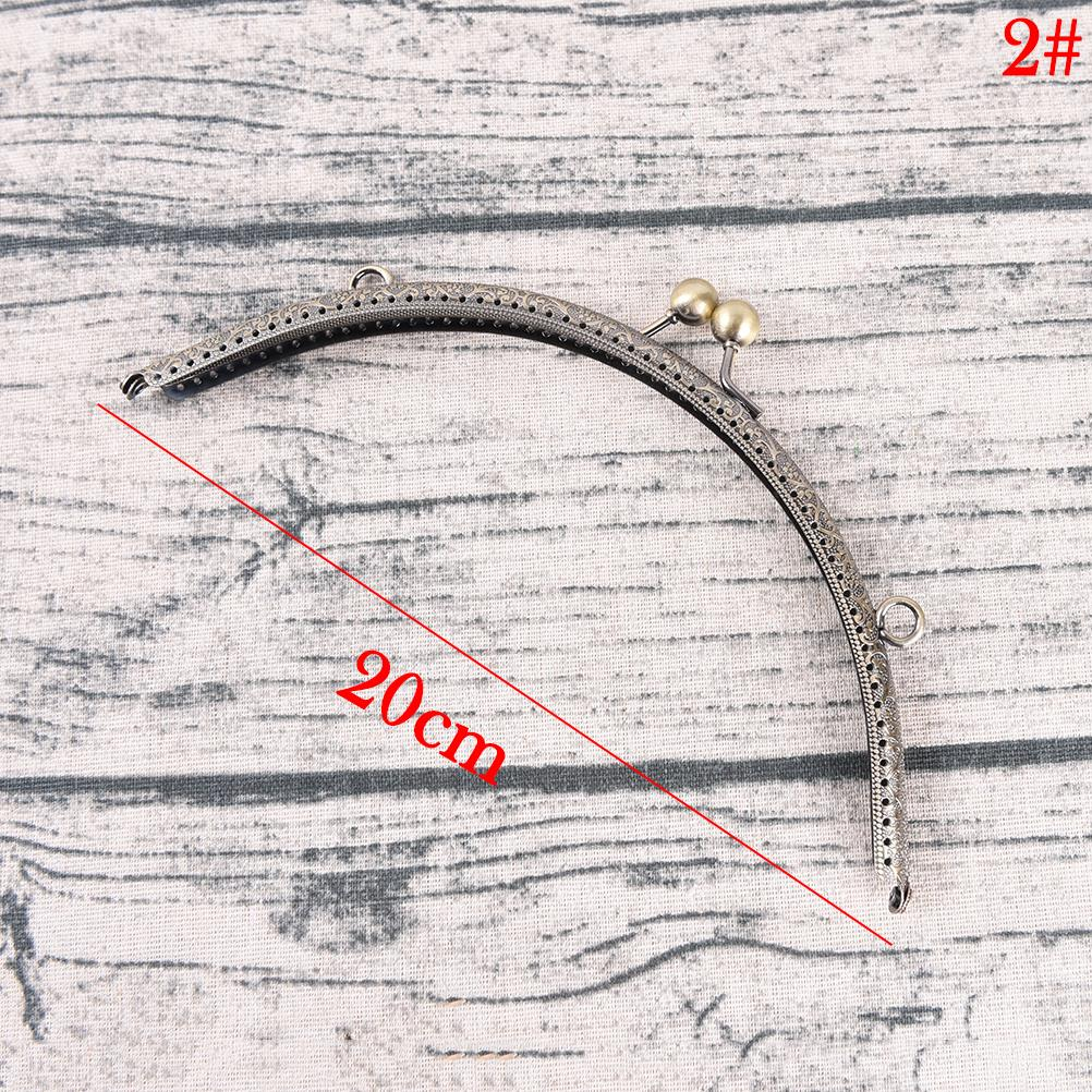 1PC DIY 20cm Antique Brass Metal Purse Frame Ring Kiss Clasp Handle For Bag Craft Bag Making Sew