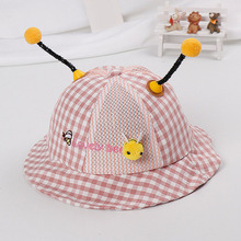Cute Bee Ears Cotton Infant Sun Summer Outdoor Girls Unisex Boys Baby Hats Cap Toddlers Bucket Hat