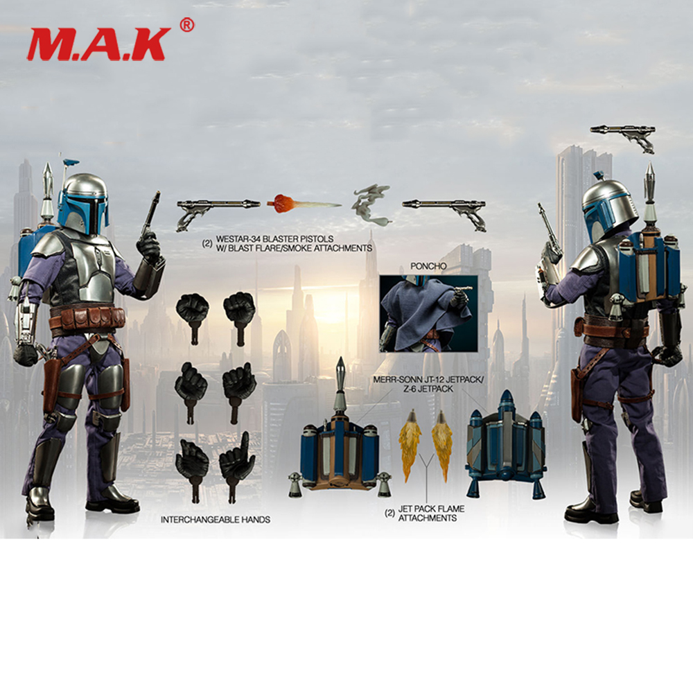 For Collection 1/6 Scale Collectible Full Set Bounty Hunter Jango Fett 12 inches Action Figure Model for Fans Holiday Gifts