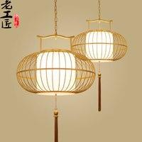 new 30 60CM Chinese restaurant Antique Iron Cage lamp pendant lights Hotel La teahouse entrance Club Creative birdcage lamps