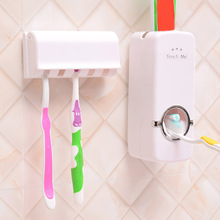 16x6x6cm Automatic Toothpaste Squeezers + Toothbrush Holder Set Family Wall Mount Rack Bathroom Product Wholesale 2019 Trendy