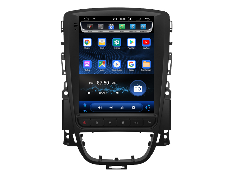 OTOJETA Android 8 1 0 vertical Car Multimedia tesla GPS NAVIGATION Radio player for Opel Astra