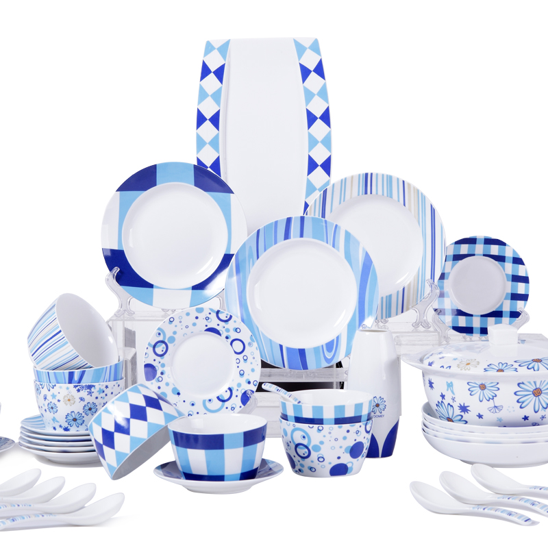 Mediterranean Style Dinnerware: 26 PIECES Dear Hoomey Tableware Simple Mediterranean