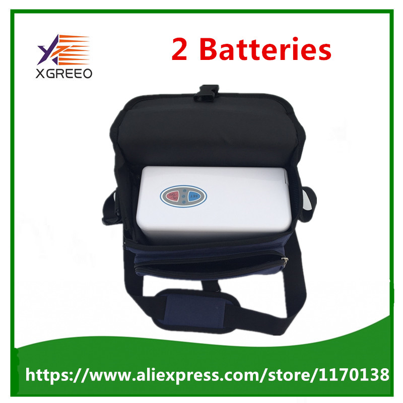 XGREEO XTY-BC 2 batteries Home use mini portable oxygen concentrator generator oxygen making machine xgreeo new model portable oxygen concentrator oxygen generator home use oxygen concentrator for copd travel car use oxygen tank