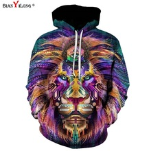 BIANYILONG 2017 Newest Fashion Men Women 3d Sweatshirts Print Paisley Flowers Lion Hoodies Autumn Winter Hooded