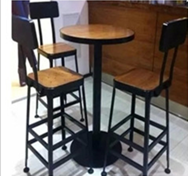 Starbucks Café Tables Chaises Hautes Pont Salon Chaises En Fer Forgé