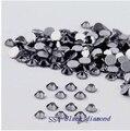 De Calidad superior 1440 unids/pack SS4 (1.5-1.6mm) de Diamantes de Cristal Negro Piedras Nail Art Decoraciones Posterior Plana Hotfix Piedras