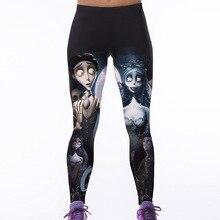 S XXXXL Women s Fitness Leggings Personality Skeleton 3D Printed Leggings Female Clothing Adventure Time Legging