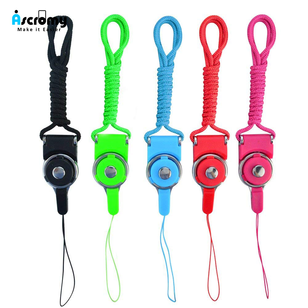 Ascromy Detachable Long Neck Straps Band Lanyard for iPhone X XS Xiaomi Redmi Note 5 Cell Phone Camera Key ID Card Badge Holder (1)