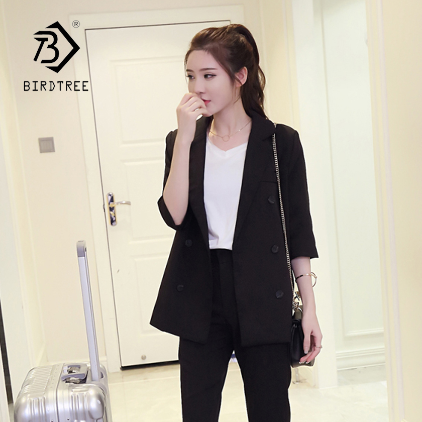 New Arrival Women s 3 Pieces Double Breasted Blazer Inside Shirt High Waist Pants Elegant Office