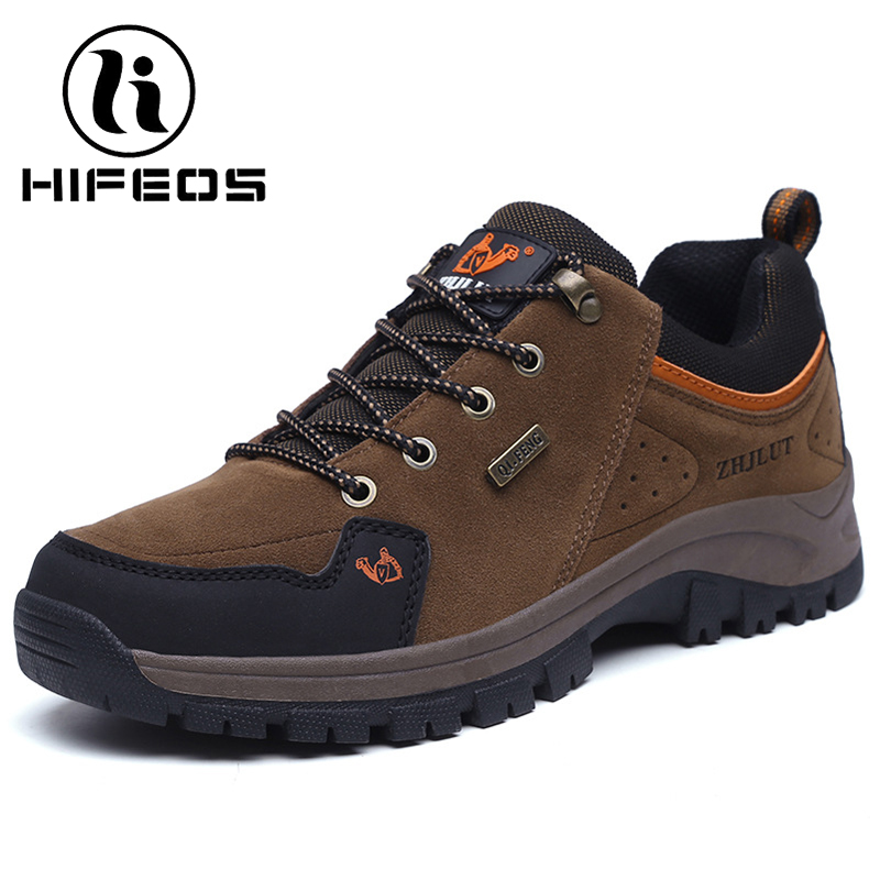 HIFEOS men plus velvet low-top hiking sneakers outdoor hiking shoes wear couple boots climing trekking winter breathable M050 winter men s outdoor warm cotton hiking sports boots shoes men high top camping sneakers shoes chaussures hombre