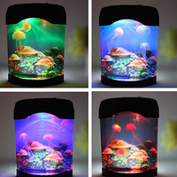 LED Creative Aquarium Night Light Durable Home Decoration Simulation Jellyfish Lamp Christmas Gift Battery Or USB Operated Light
