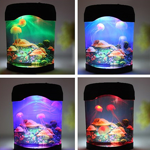 led criativo aquario luz da noite duravel casa decoracao simulacao jellyfish lampada presente de natal