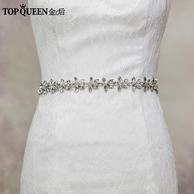 Tpoqueen S96 Free Shipping Stock High Grade Handmade Luxury Bride Diamond Waist Belt Wedding Accessories