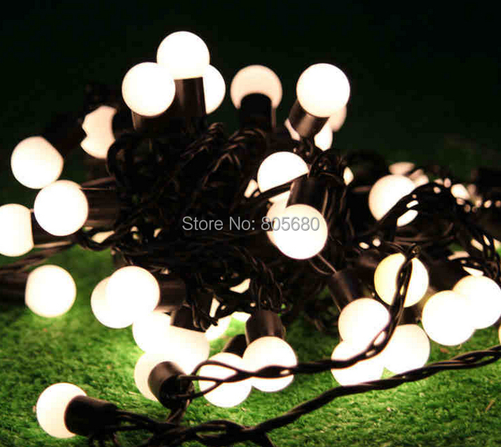 Free Shipping Waterproof Wedding Led Ball String Light 10M 100led Ball  Outdoor Light 110v/220V Holiday Lighting Led String