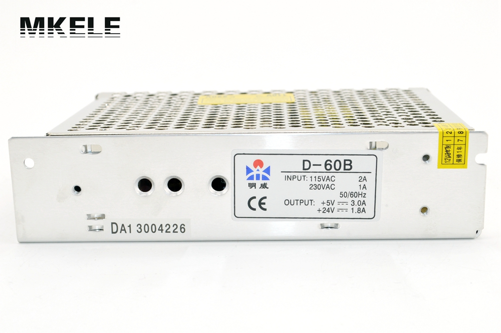 High Quality 60W 5V 24V Dual Output DC switching Power source Supply D-60B Voltage Converter 220v Transformer free shipping120w mini dual output switching power supply output voltage 5v 24v ac dc d 120b