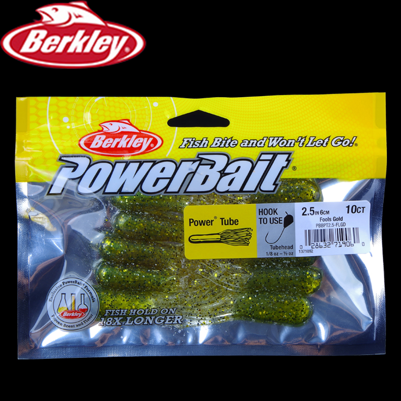 Berkley Power Bait Power Tube 2.5in 6cm 6 10ct/lot Worm Bait Soft Fishing Lure Artificial Bait Saltwater Sandworm Fishing lure