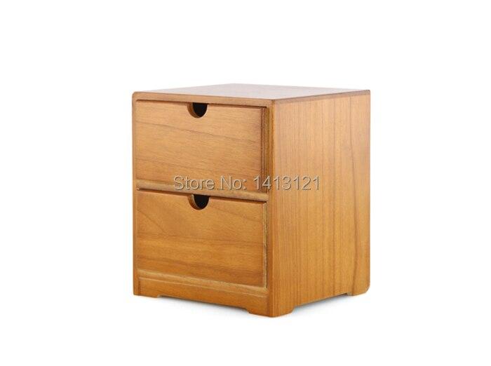 Livraison gratuite en bois bureau rangement tiroir débris cosmétique boîte de rangement bin bijoux style rétro bureau créatif cadeau maison approvisionnement