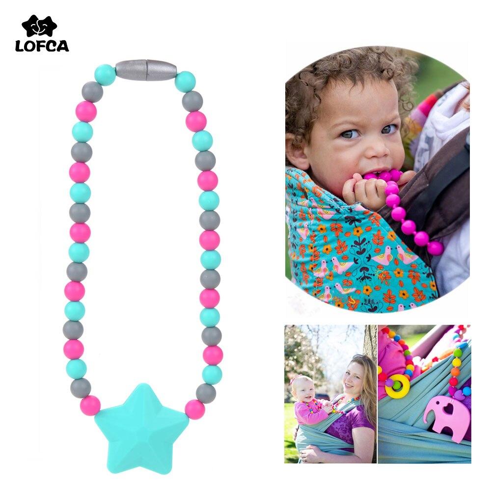 Mordedor de silicone estrela chupeta, silicone grampos de chupeta de bebê cadeia de transporte de bebê brinquedos não colar sem bpa