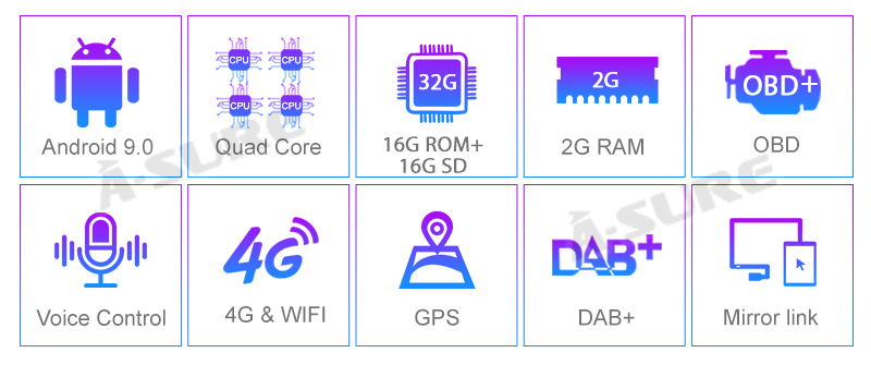 Android 9.0 VW Golf Transporter Passat 2 Din GPS DVD DAB+ WiFI 63