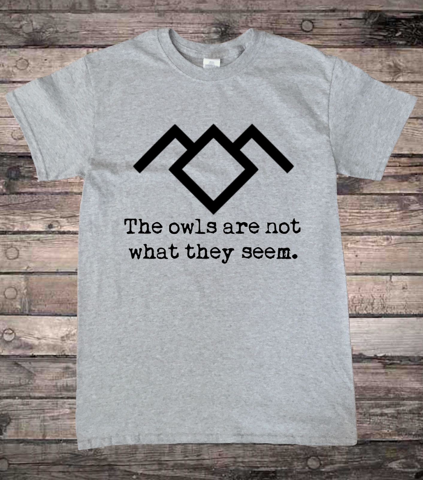 Black t shirts with quotes - Twin Peaks Black Lodge Owl Quote T Shirt Short Sleeve T Shirt Men T Shirt Male Hipster Tops Sleeves Boy Cotton Men T Shirt