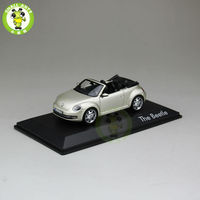 1 43 Scale VW Volkswagen Beetle Cabriolet Diecast Car Model Toys Silver