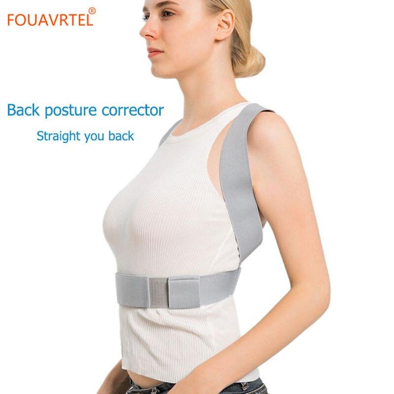 FOUAVRTEL  Adjustable Therapy Posture Corrector Brace Shoulder Back Support Belt Clavicle Lumbar