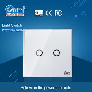 Image 5 - NEO COOLCAM NAS SC01Z interruptor de luz de pared z wave Plus, 2CH Gang Home Automation Z wave, interruptor de luz de Control remoto inalámbrico