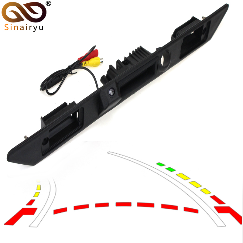 Special Car Trunk Handle Rear View Tracks Camera For Audi A3 A4 A5 A6 A8 With
