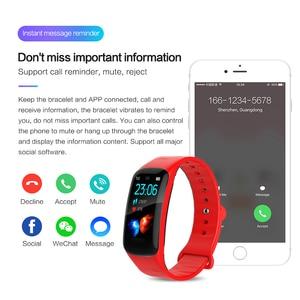 Image 5 - LIGE pulsera inteligente IP67 para mujer, Monitor de ritmo cardíaco a prueba de agua 1,14 con pantalla grande para Android ios