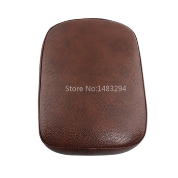 Custom Brown Rear Passenger Pillion Pad Seat w/ 8 Suction Cup Fit For Harley Cruiser Aftermarket-Motor-Parts Store