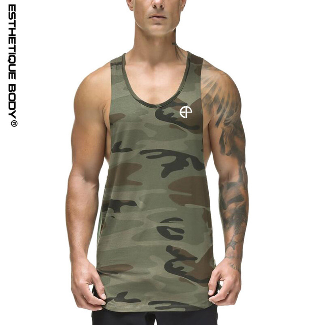 8cb7301edca33 Bodybuilding tank tops men new polyester quick-drying gyms tank top fashion  brand printing tank shirt fitness clothing