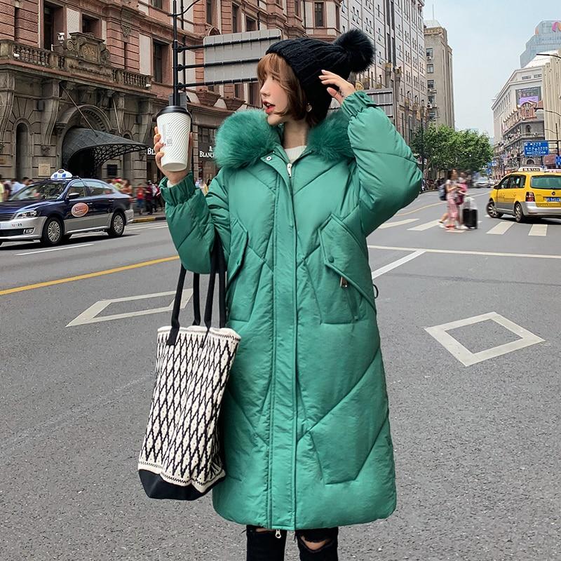 2019 Winter Jacket Women Down cotton Jacket plus size Hooded Jacket Women Thick Warm Cotton Outwear Women Long   Parkas