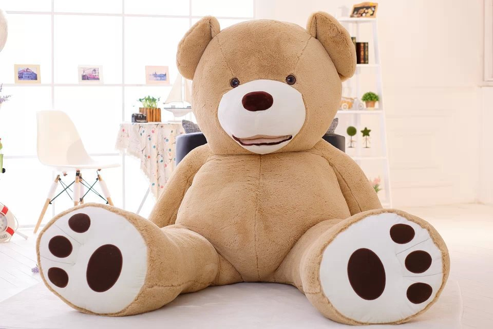 super huge smile bear toy skin, no fillings , 260cm empty teddy bear plush toy bear case toy gift w9499 factory price 160cm teddy bear coat empty toy skin plush giant bear toy