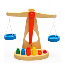 Wooden Balance Scale Group Montessori Children's Mathematics Teaching Aids Kindergarten Early Education Weighing Toys Gifts geek king montessori teaching aids balance scale baby balance game early education wooden puzzle children toys