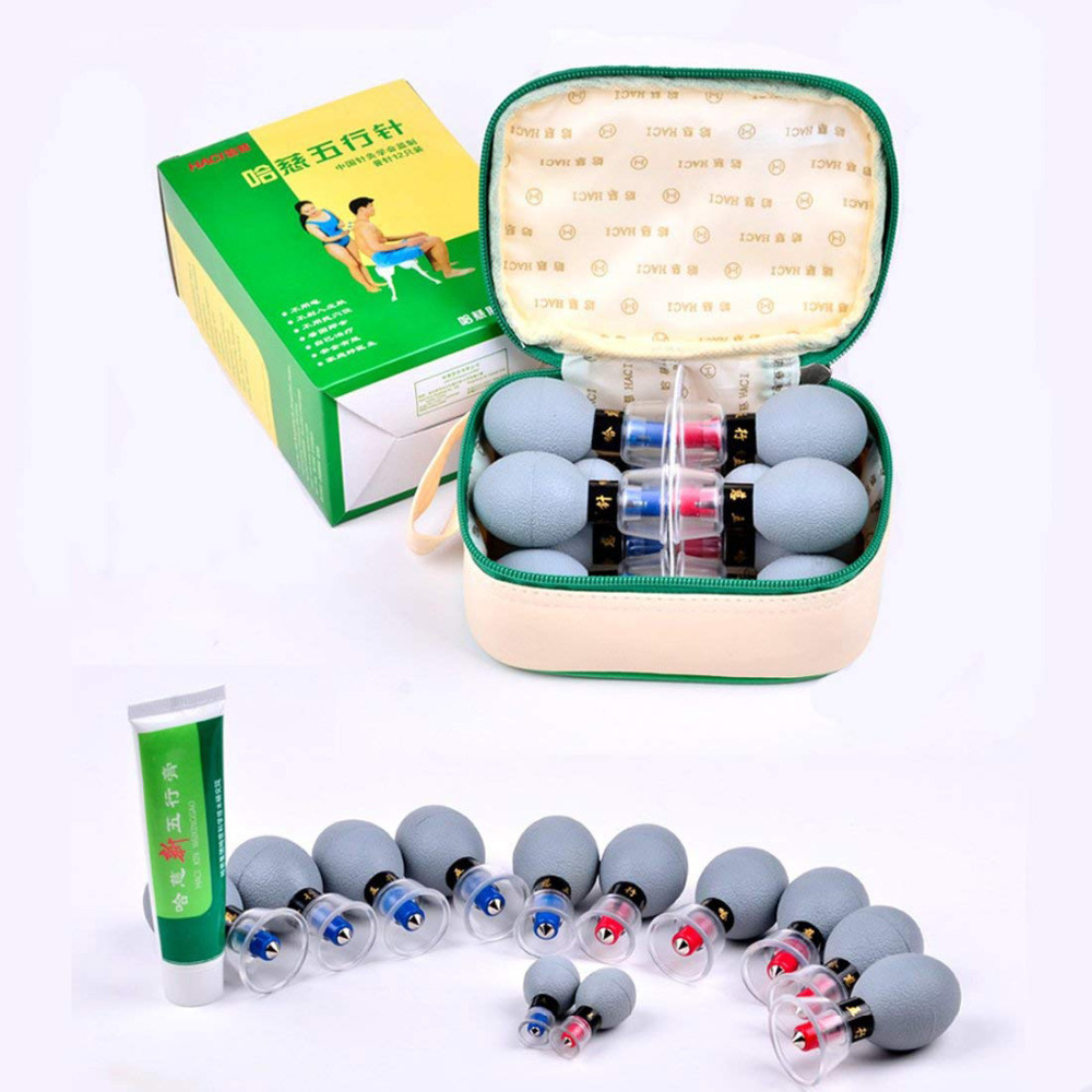 MQFORU Chinese Biomagnetic Cupping Set Acupressure  Massage Tool For Pain Relief12/18Cup Vacuum Haci Magnetic Therapy Cupping