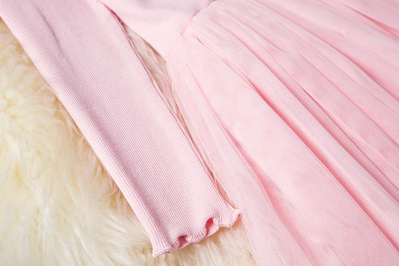 HTB1J6EWaUY1gK0jSZFCq6AwqXXaj Kids Long Sleeve Lace Drsses for Girls Party Dress Star Printed Birthday Tutu Dresses Children Casual Wear 3 6 8 Years Vestidos