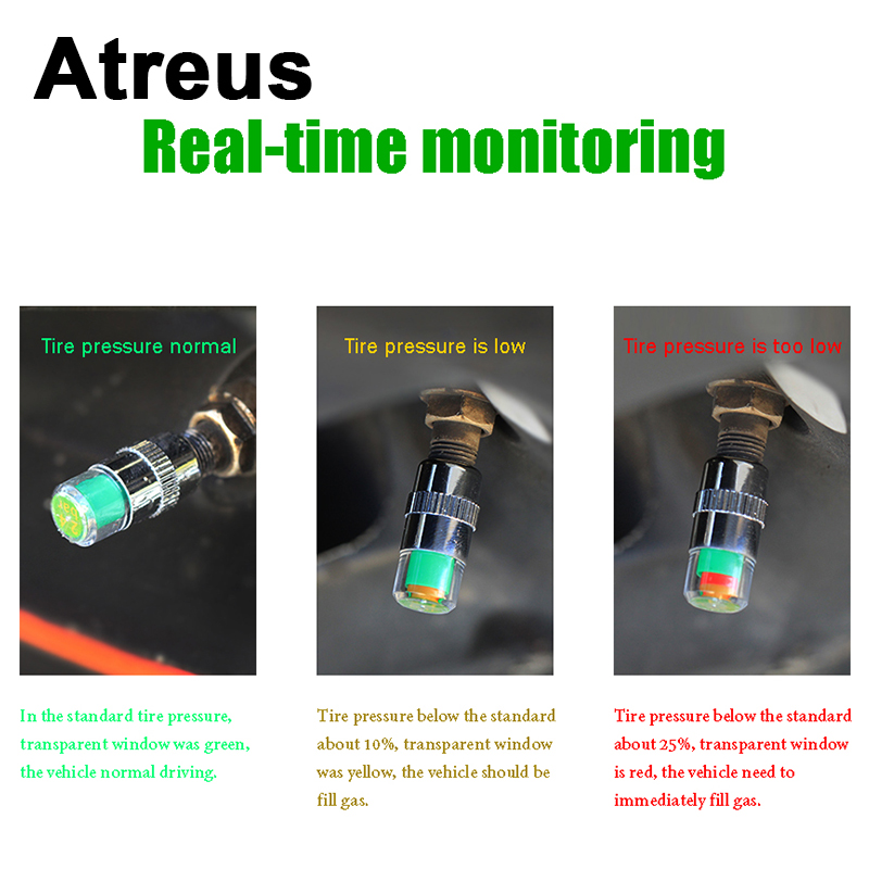 4X Car-styling Car Tire Pressure monitoring valve cap Wheel Air Cover Tight Rims For Opel astra h j Kia Rio Ceed Jeep Renegade rice cooker parts steam pressure release valve
