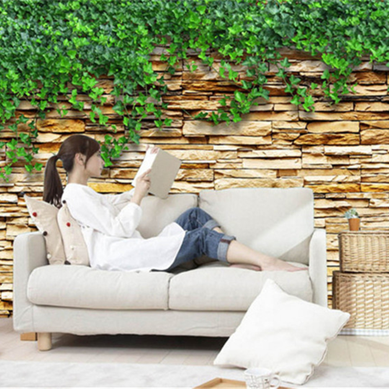 3D Photo Wallpaper Rolls Custom Wallpapers Stone Leaf Wallpapers For Living Room TV Background Wall Papers Home Decor Wall Mural custom 3d photo wallpaper dubai night view city building wall mural wall papers home decor living room background wall painting
