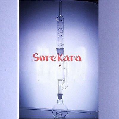 250ml Glass Soxhlet Extractor Extraction Apparatus With Bulbed Condenser Extractor Body