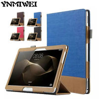 MediaPad M2 10 0 PU Leather Case Cover 10 1 Patchwork Stand For Huawei MediaPad Media