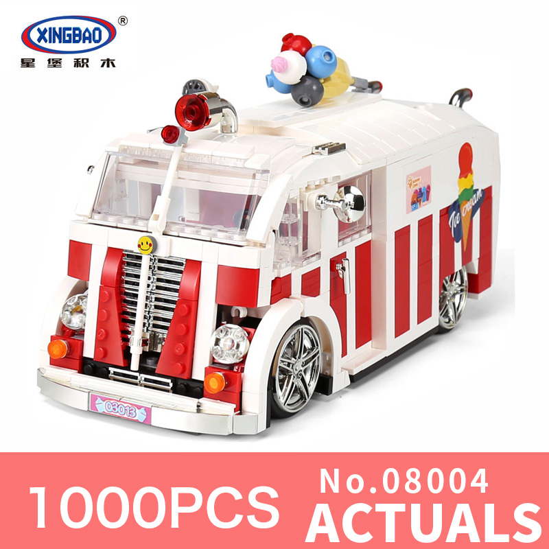 XingBao 08004 1000PSC Creator The Ice Cream Car Set Building Blocks Bricks Toys Compatible Model for children Holiday gifts костюмы puma костюм спортивный ftbltrg woven tracksuit