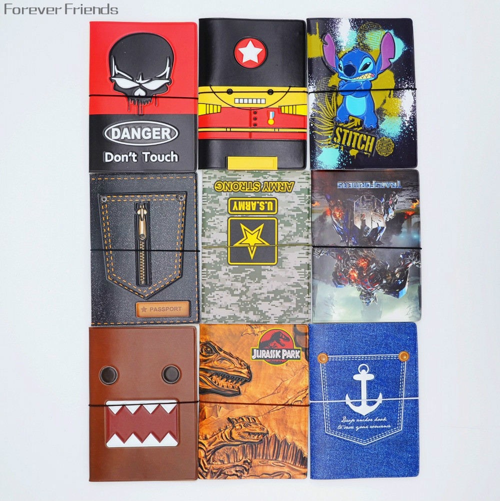 2015 Fashion 3D  Leather  Passport Holder ,Passport Cover for Travel Card Holder Bag, 22  Style for choose,size 14*9.6cm