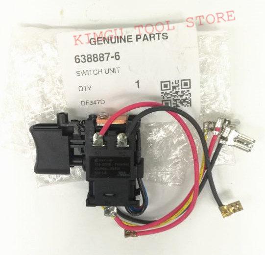 Genuine Switch For Makita 638887-6 HP457D DF457DWE DF457D HP347D DF347D HP457 DF347DWE