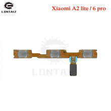 for Xiaomi Mi A2 Lite/ Redmi 6 Pro Power Volume Flex Cable Side Key Button On Off Switch Ribbon Flex Cable Repair Spare Parts repair parts replacement left right button volume flex cable set for psp go black green
