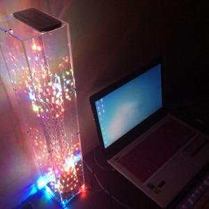 Image 3 - צבעוני LED מגדל DIY ערכות ספקטרום תצוגת מנורת מוסיקה אלקטרונית הלחמה אינפרא אדום שלט רחוק/WIFI APP/Bluetooth מתנה