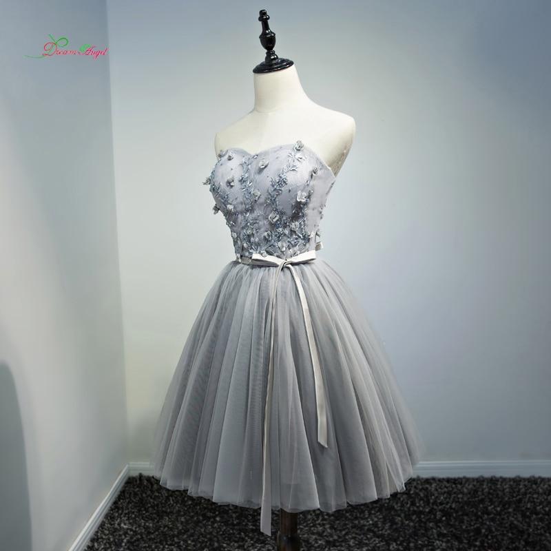Ангел мечты цветы без бретелек по колено коктейльные платья 2018 Винтаж вышивка специальный Нарядное платье Короткое платье; для вечерние
